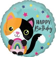 """Cat Calico Happy Birthday ~ 17"""""""