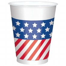 Patriotic Print Cups 25ct