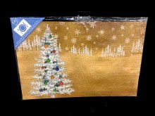 """Reusable Christmas Woodland Trees Placemats ~ 8 Pack/17""""x11"""""""
