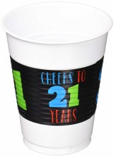 21st Brilliant Bday 16oz Cups 25ct