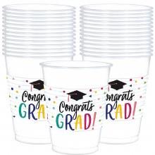 Congrats Grad Plastic 16oz Cups 25ct