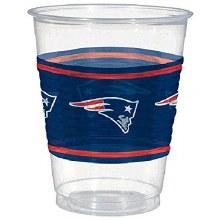 Patriots 16oz Plastic Cups 25ct