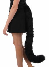 Cat Tail Oversized Blk