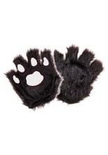 Gloves Paws Fingerless Blk/Pnk
