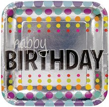 Birthday Pop 9in Plate 8ct