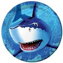 Shark Splash 9in Plate 8ct