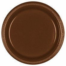 Chocolate Brown 7in Plas Plate