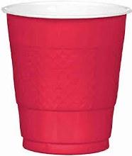 Apple Red 12oz Plastic Cups 20ct
