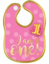 First Birthday Girl Baby Bib