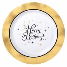 Gold Birthday Premium 10in Plt