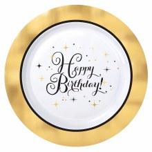 Gold Birthday Premium 7in Plt