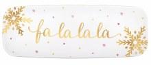 "Fa La La La La Foil Plastic Platter ~ 1 ct./17"""