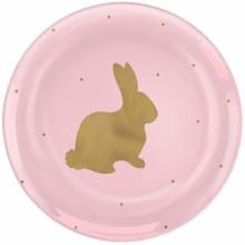 Bunny Plates Pl 20pk