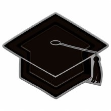 Grad Cap Shaped Plt 10.5in