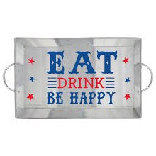 Serving Tray Patriotic Metal