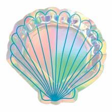 Shell-Shaped Iridescent Plt