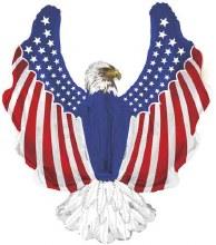 """JUMBO Patriotic Eagle ~ 36"""""""