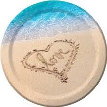 Beach Love 10in Plates