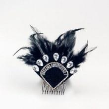 Flapper Headpiece Black
