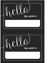 Name Tags Chalk Look 100pk