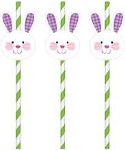 Paper Straws w/ Bunny Add Ons 12pk