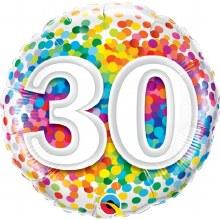 "18"" Rainbow Confetti ""30"""