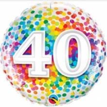 "18"" Rainbow Confetti ""40"""