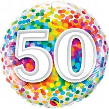 "18"" Rainbow Confetti ""50"""