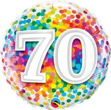"18"" Rainbow Confetti ""70"""
