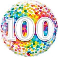 Mylar 100th Rainbow Confetti