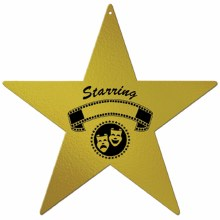 Cutouts Award Night Star Gold