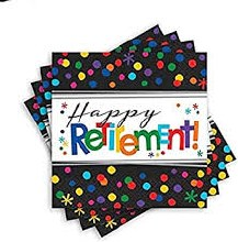 Officially Retired Beverage Napkins 16ct