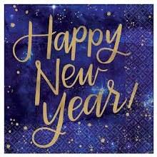 Midnight Happy New Year  Beverage Napkin