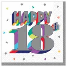Happy 18th Bev Napkin