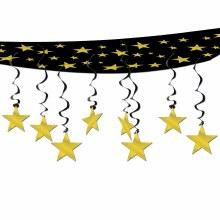 Stars Ceiling Decor Gold