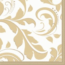 Gold Elegant Scroll Bev Nap