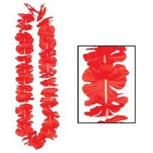Lei Red Silk n Petals