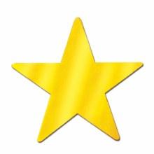 """DLX Metallic Star Fan Gold 24"""""""