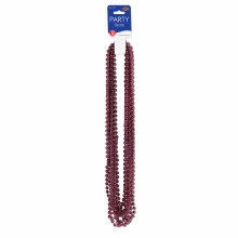 Beads Party Sm Round Maroon