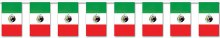 Mexican Flag Banner 60ft