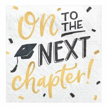 On to The Next Chapter Grad Napkins 16ct