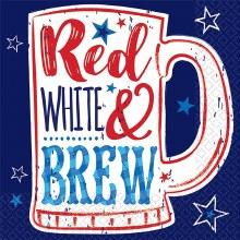 Red/Wht/Brew Bev Nap