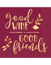 Good Wine Good Friends Bev Nap