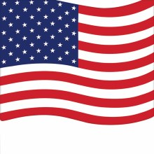American Flag Bev Nap