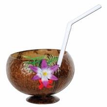 Cup Coconut w/Straw