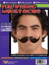 Moustache Full Winged Black