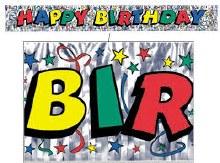 Happy Birthday Banner Raibow Fringe
