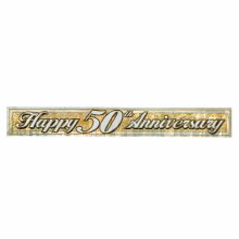 Banner Anniversary 50th Gold