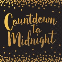 Countdown to Midnight Lunch  Napkins