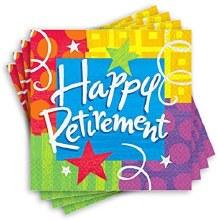 Happy Retirement Lunch Napkins 16ct